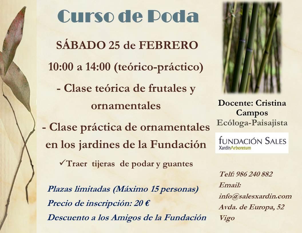Curso de poda en Fundación Sales-Vigo