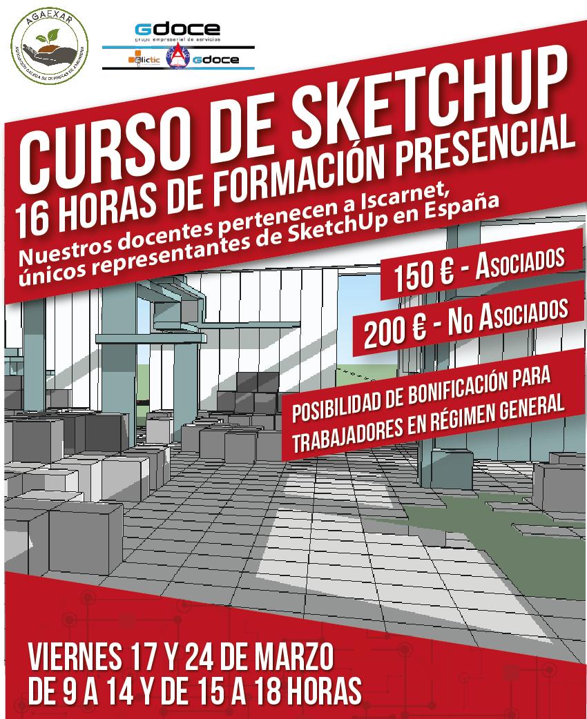 Curso de Sketchup – diseño de jardines en 3D / marzo2017