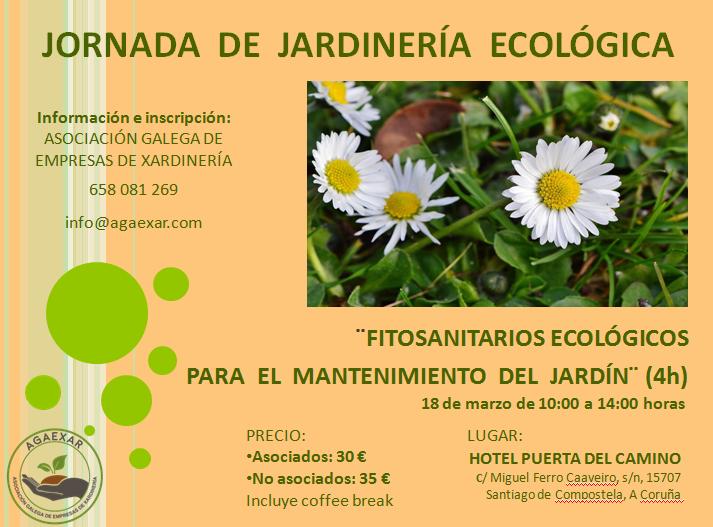 """Jornada de Jardinería Ecológica: """"fitosanitarios ecológicos para el mantenimiento del jardín"""""""