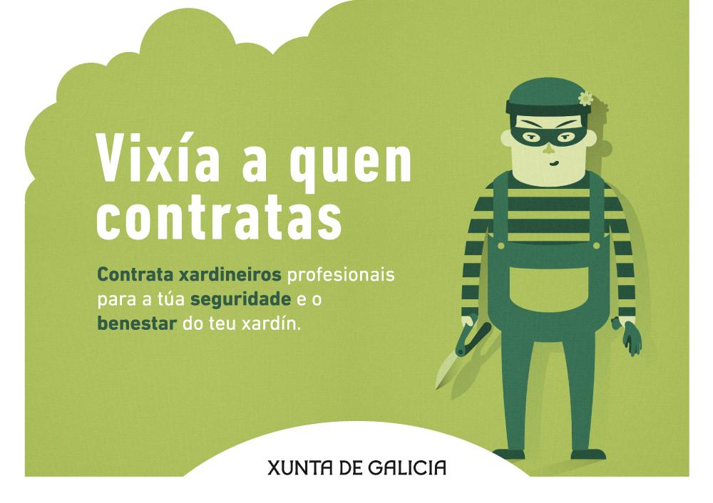 AGAEXAR lanza una nueva campaña contra el INTRUSISMO en el sector de la JARDINERÍA, en colaboración con la Xunta de Galicia