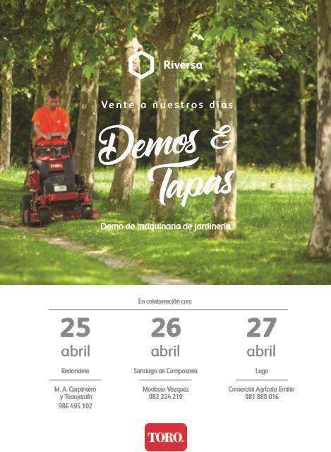 Demo de maquinaria de jardinería TORO