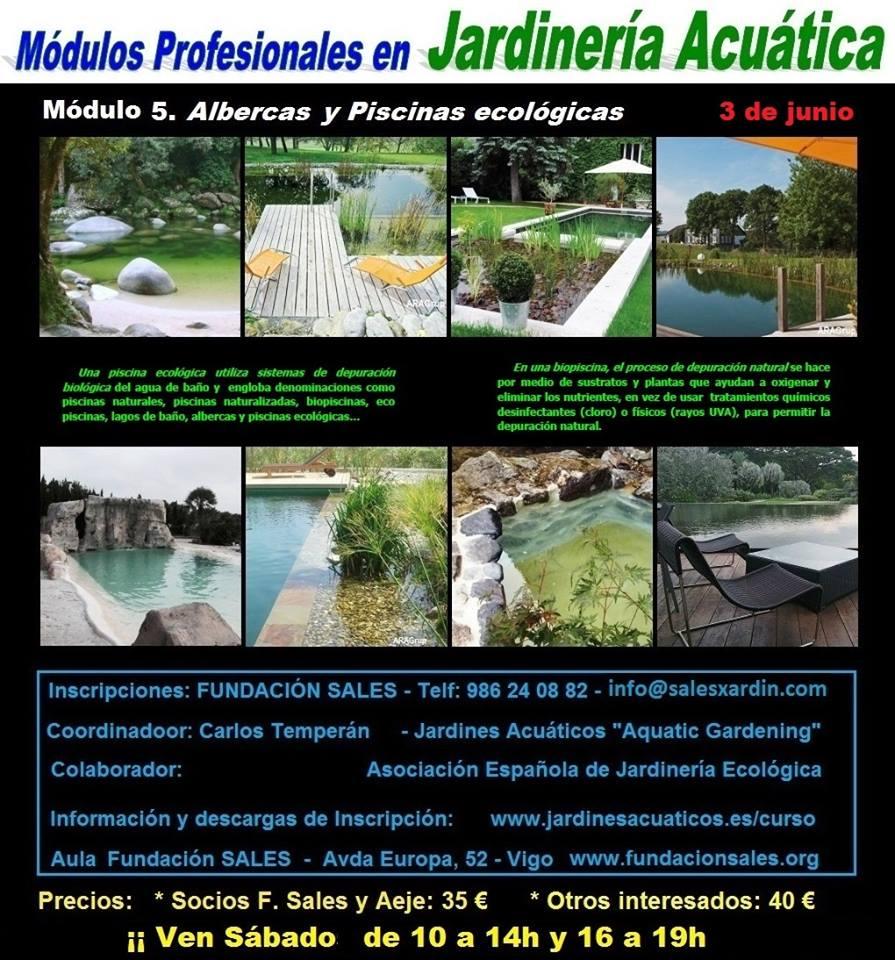 Módulo formativo de Albercas y Piscinas ecológicas