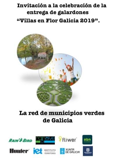 """Invitación a la celebración de la entrega de galardones """"Villas en Flor Galicia 2019"""""""