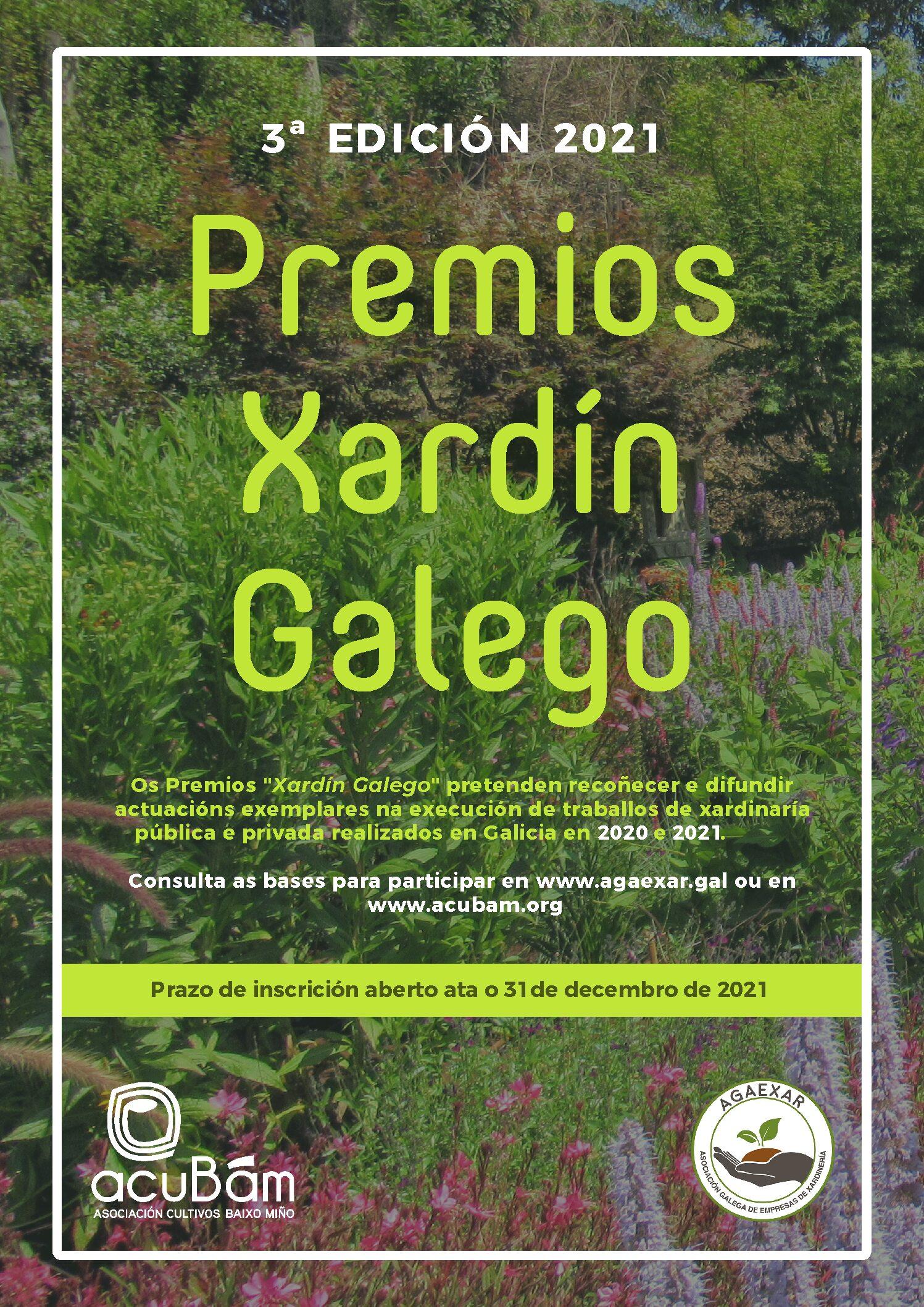 Convocada la III edición de los Premios Xardín Galego